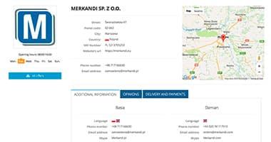 Advanced company profile