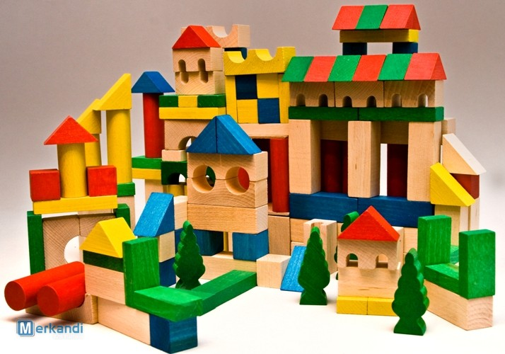 Wooden bricks set of 180 pieces | Toys & games | Official archives