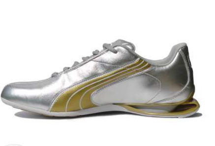 rencontrer af861 767bf puma lowvitation lux silver/gold for women | Stock lot shoes ...
