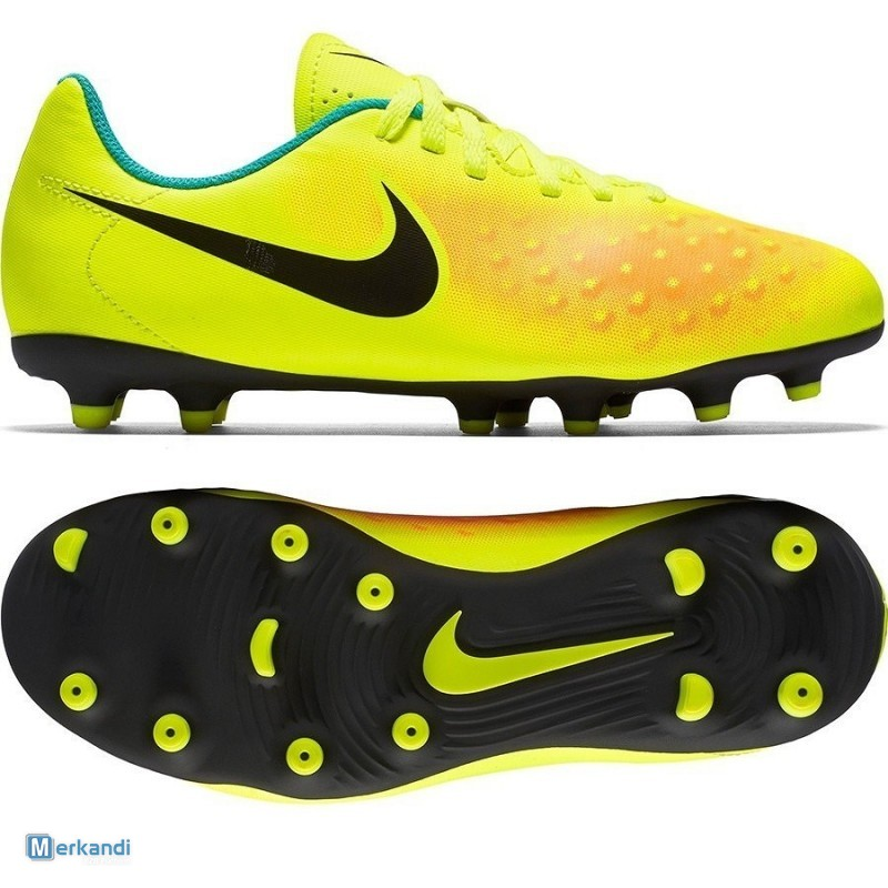 4ee7fa479579 Nike Magista Ola II FG Yellow Black Orange Junior Soccer Shoes ...