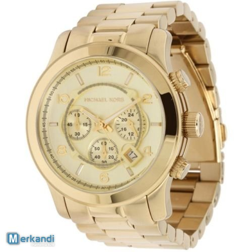 c90331918e4c MK8077 Michael Kors Gold Watch Unisex Stainless Steel Bracelet Chronograph  New